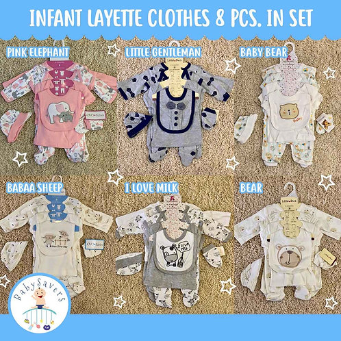Imported Infant clothes 8pcs in a set