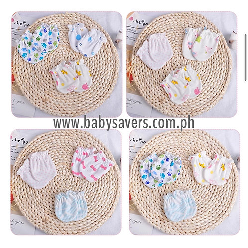 Baby Mittens cotton 6 pairs - Boy or Girl