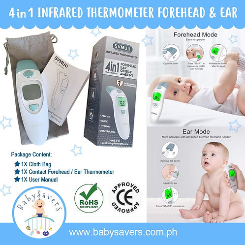 4 in 1 Infrared SVMUU Thermometer Ear And Forehead