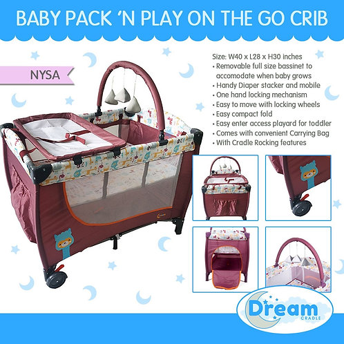 Dream Cradle Pack n play Rocking Crib, Nysa