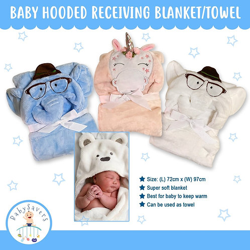 Baby Hooded Soft Receiving blanket