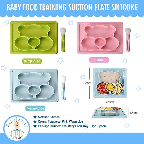 Baby Food Training Suction Plate Silicone
