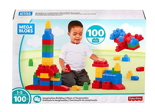 Mega Bloks Imagination Building Blocks 100 Pcs
