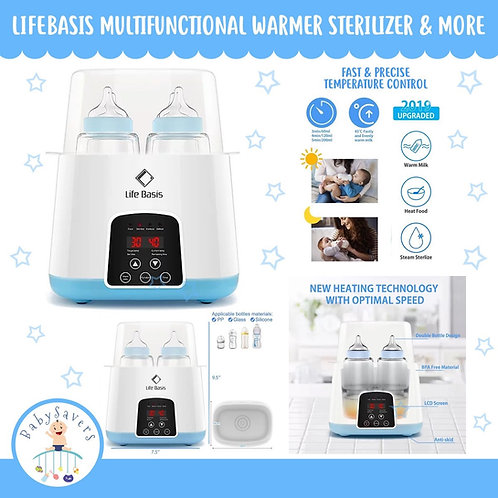 LifeBasis 6 in 1 Smart Thermostat Baby Bottle WarmeBasis 6 in 1 Smart Thermostat