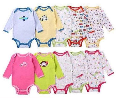 Infant bodysuits longsleeve 5pcs/set Girl or Boy