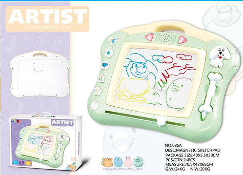 Magnetic Drawing Board with Light and Music - Erasable Colorful Scribble Magna D