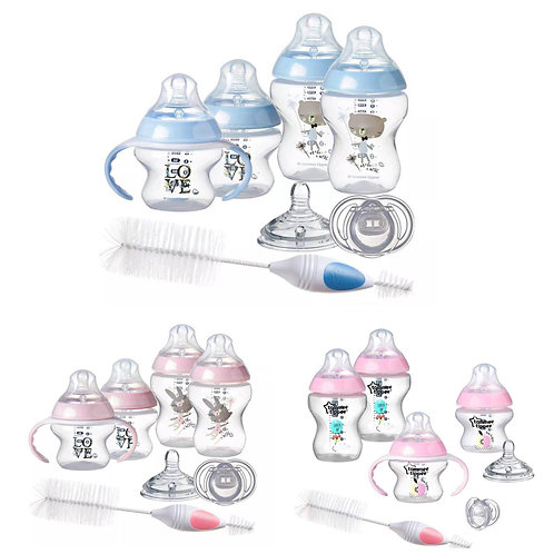 Tommee Tippee Closer to Nature Newborn Baby Bottle Feeding Starter Set