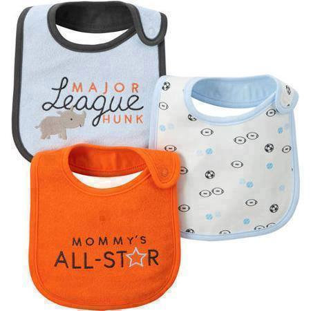 Child Of Mine Made By Carter's Newborn Baby Boy Bib, 3 Pack - Mommys ALL STAR