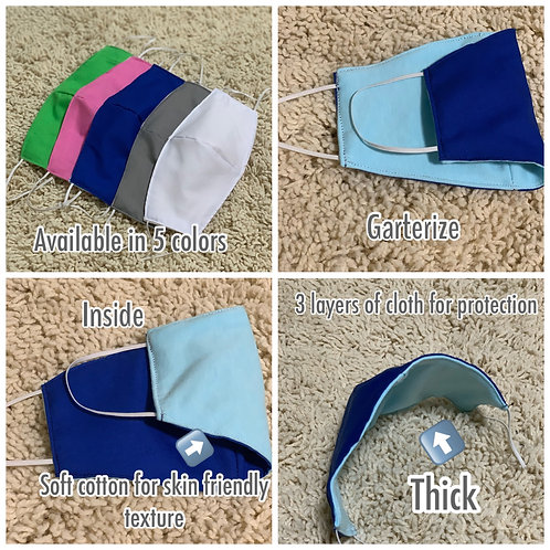 Adult Washable/Reusable Mask 3pcs/pack