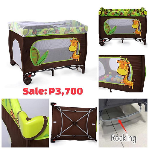 Cobabies Pack n play on the go playard with rocking system - Jungle
