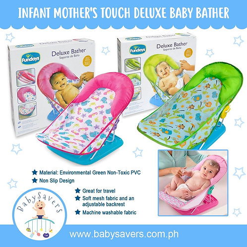 Fundays Infant Mother's Touch Deluxe Baby Bather-Pink