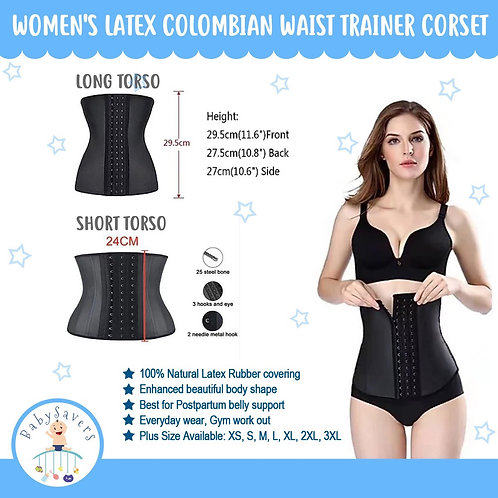 Women's Latex Colombian Waist Trainer Corset Binder