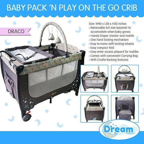 Dream Cradle Pack n play Rocking Crib, Draco