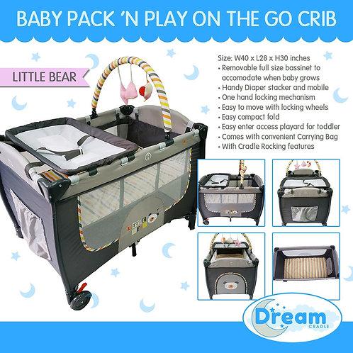 Dream Cradle Pack n play Rocking Crib, Bear