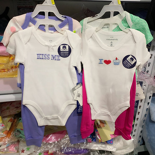 Infant Girl Bodysuit set 6-9mos