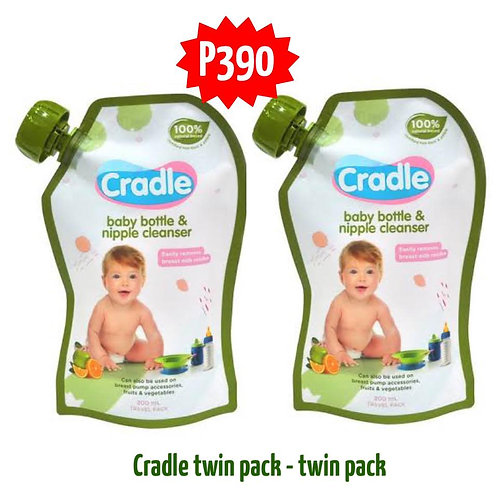 Cradle Baby Bottle and Nipple Cleanser 200mL twin pack
