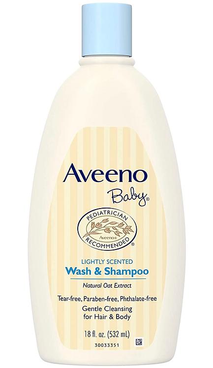 Aveeno Baby Wash & Shampoo, Tear-Free, 18 Oz.