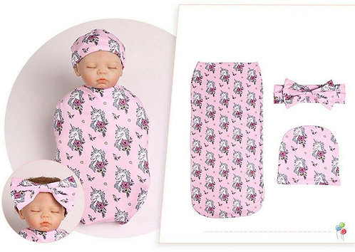Swaddle Cocoon 3 in 1 Set - Girl random color
