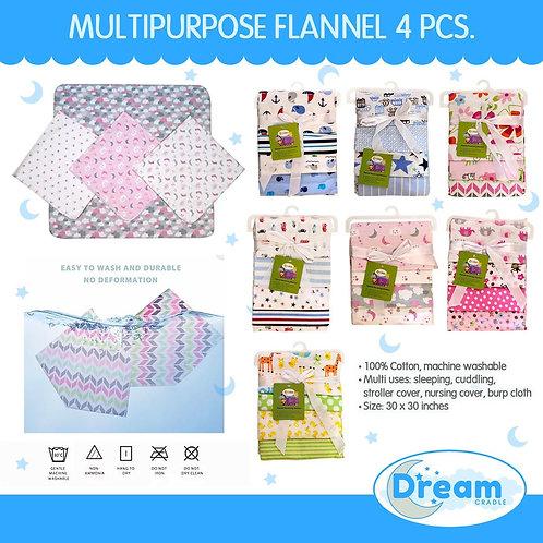 DreamCradle Multi-purpose flannel receiving blanket