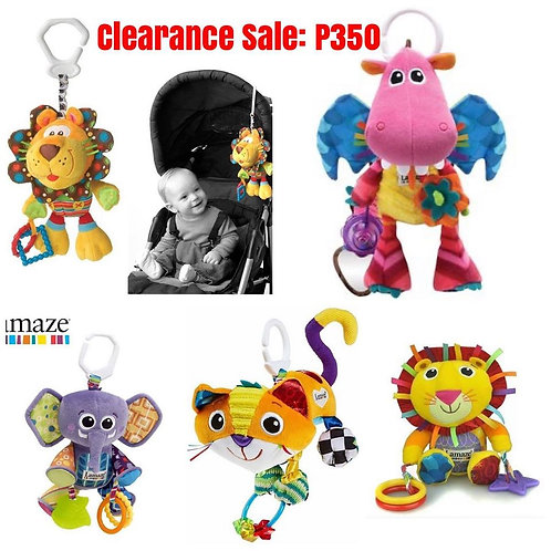 Lamaze Clip & Go Friends, Infant stroller or Carseat toy