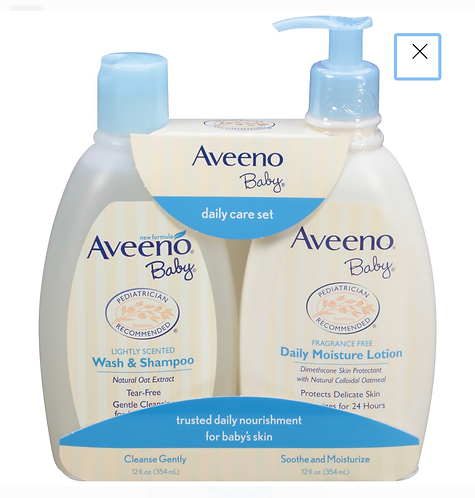 Aveeno Baby Daily Care Set with Natural Oat Extract