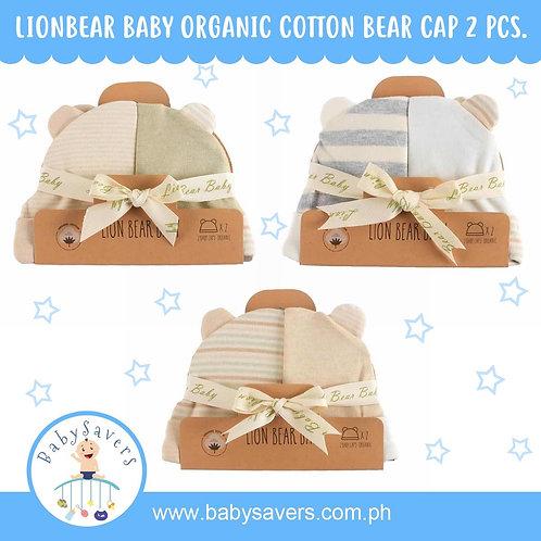 Lionbear Baby 100% Organic cotton Bear Hat 2pcs in set