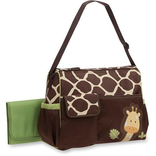 Baby Boom Giraffe Print Duffel Diaper Bag