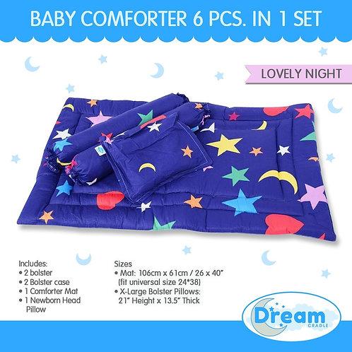 DreamCradle Non-reversible Comforter Mat & Pillows set -Moon&Stars