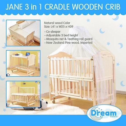 JANE Multi function cradle Wooden Crib