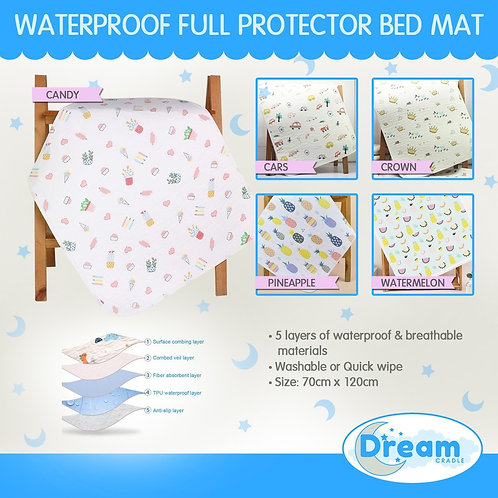 Baby waterproof Protector Full cover Bed Mat