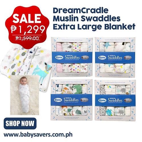 DreamCradle Muslin swaddles extra large blanket