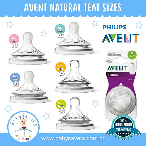 Philips Avent Natural Nipple 2pcs/pack - Choose size