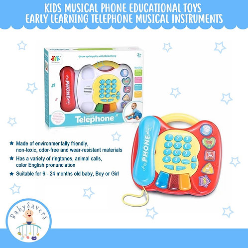 Kids Musical Phone Educational Toys Early Learning Telephone Musical Instruments