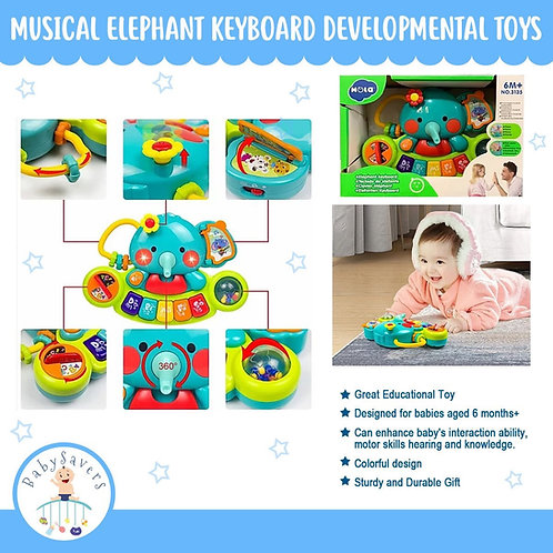 SmartMultifunctional Musical Elephant Keyboard Piano Elephant Developmental Toys
