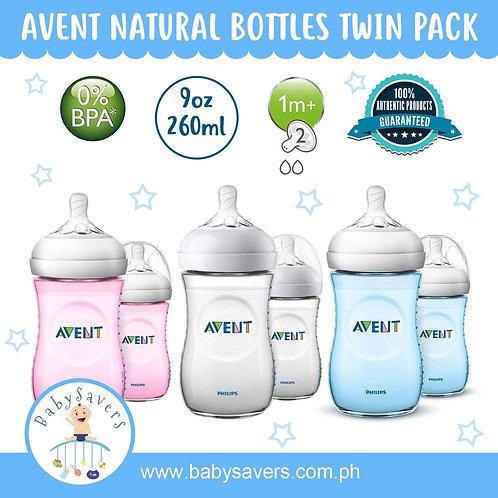 Philips Avent Natural Bottle 2pk 9oz 1m+ teat
