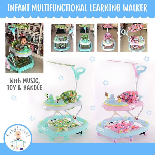 Infant Multifunctional Learning Walker with Music, Toy & Handle