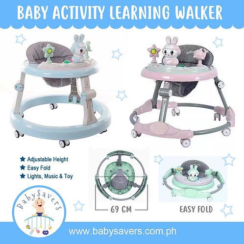 Baby Walker Adjustable Activity Blue or Pink