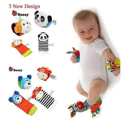 Sozzy Baby Infant Soft Toy Wrist Rattles Foots Finders Developmental