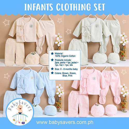 Organic Cotton Baby 5pcs in Set Infant Clothing
