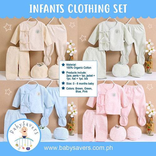 SUPER SALE! Organic Cotton Baby 5pcs in Set Infant Clothing