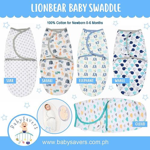 LionBear Infant Swaddle Cotton Knit for Boy