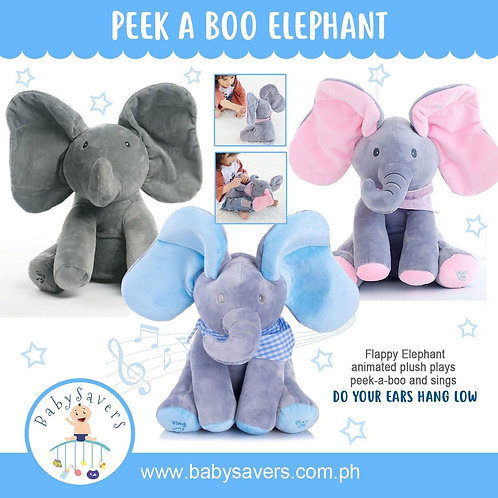 Flappy Elephant plush plays peek-a-boo and sings