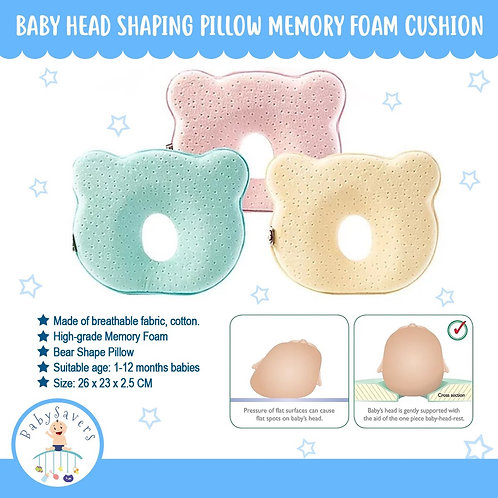 Baby Head Shaping Pillow Memory Foam Cushion for Head Support & Flat Head