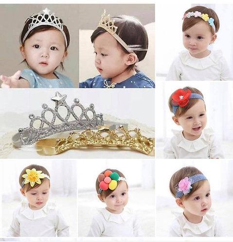 Baby's Headbands Girl's Cute Hair Bows 2pcs