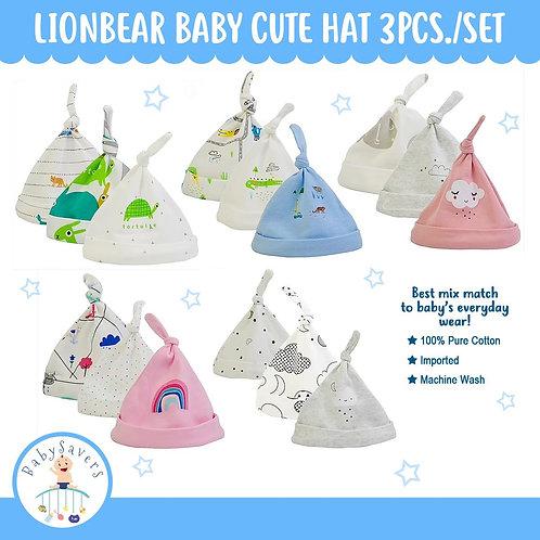 LionBear Baby cute hat set 3pcs/set