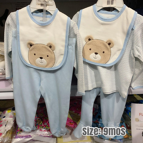 Baby Boy sleepwear set Bear-9mos