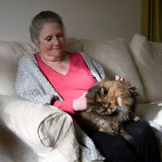 Sue with her Cat