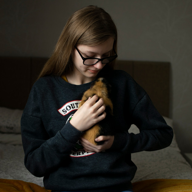 Ella with her Guinea Pig