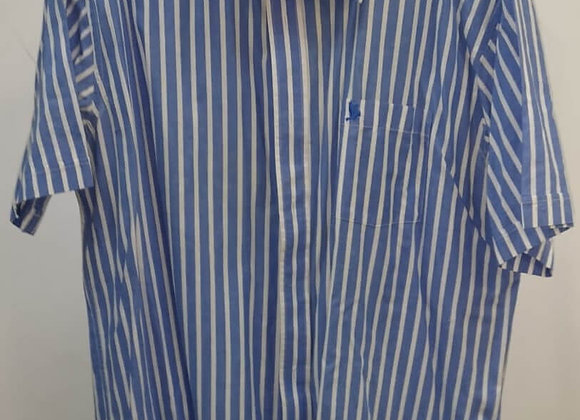 Camisa Riscas Manga Curta
