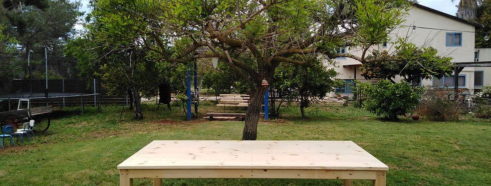 שולחן חג מיוחד מעץ אורן מלא